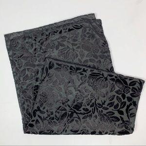 3/$24 Black Velvet Floral Evening Wrap NWT
